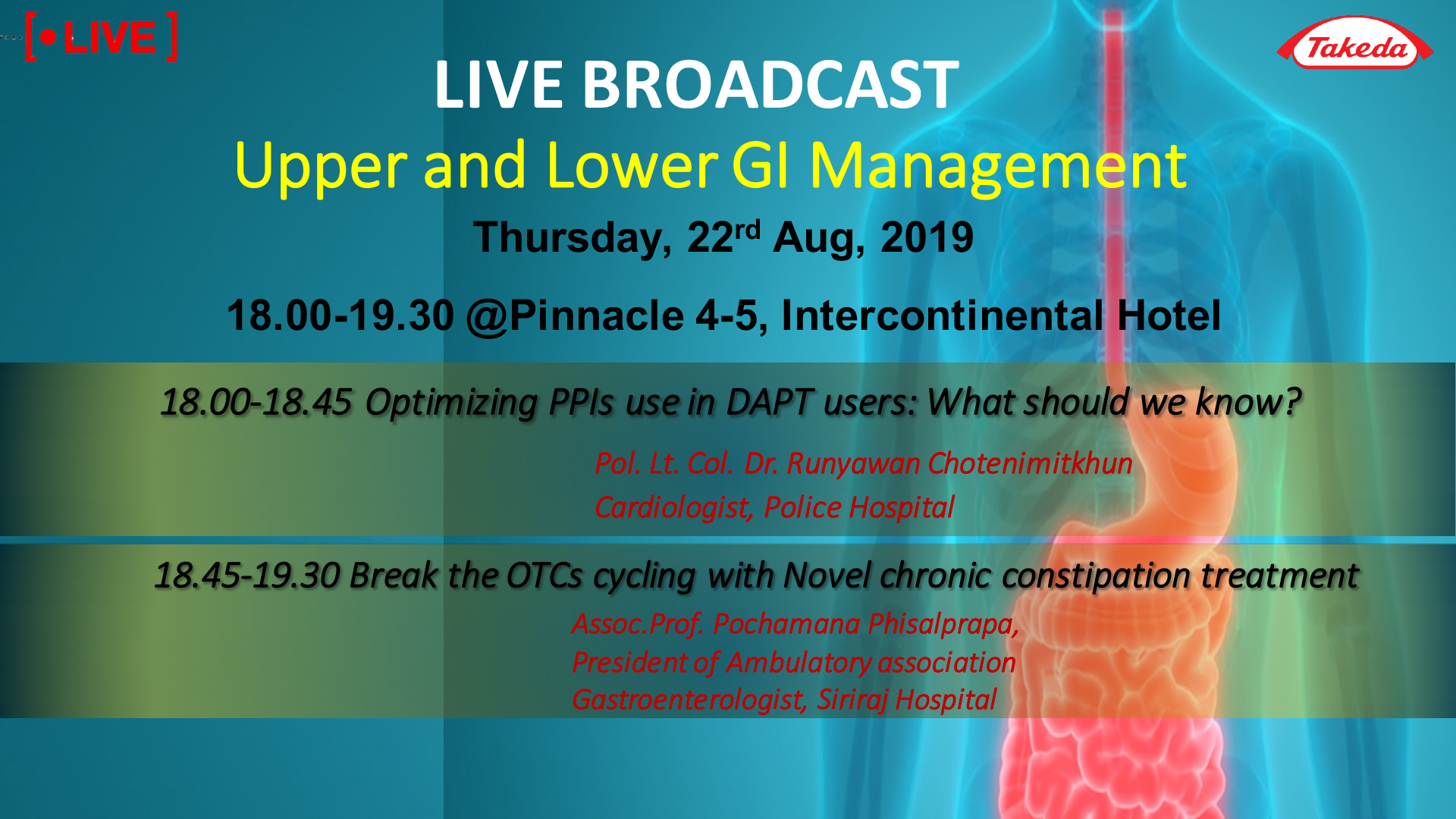 LIVE BROADCAST | Upper and Lower GI Management